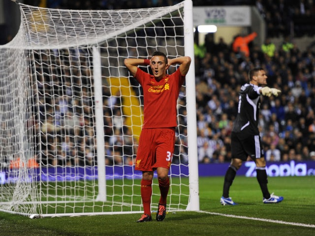Samed Yesil playing for Liverpool in 2012.