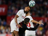 Sevilla's Jules Kounde pictured in action in November 2019