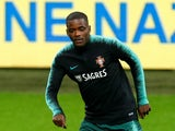 William Carvalho takes part in a Portugal training session in November 2018