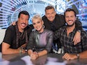 The host and judges of American Idol