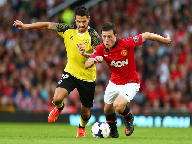 Angelo Henriquez representing Manchester United in a pre-season friendly in 2012.