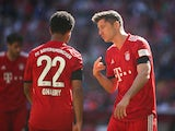 Bayern Munich's Robert Lewandowski and Serge Gnabry pictured in April 2019