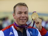 Chris Hoy pictured with Olympic gold in 2012
