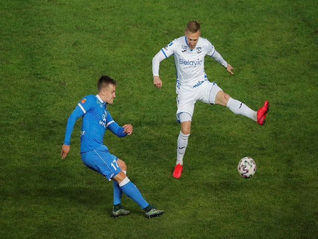 Dinamo Brest and Isloch in the Belarusian Premier League on April 12, 2020