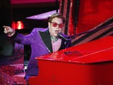 Elton John performing at the Oscars on February 10, 2020