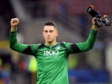 Atalanta goalkeeper Pierluigi Gollini pictured in February 2020
