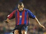 Rivaldo pictured for Barcelona in 2002