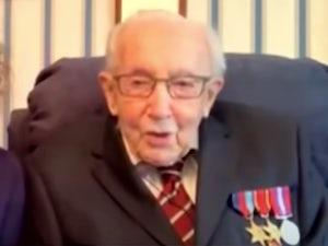 Captain Tom Moore's fundraiser reaches £20 million mark