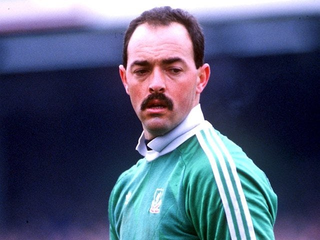 Bruce Grobbelaar pictured playing for Liverpool