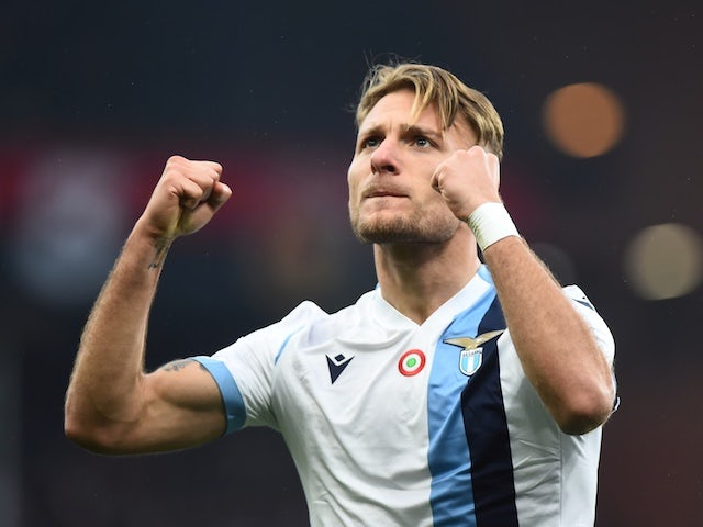 Lazio striker Ciro Immobile pictured in February 2020