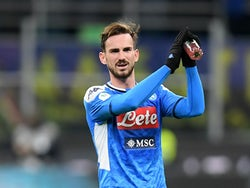 Fabian Ruiz in Coppa Italia action for Napoli on February 12, 2020