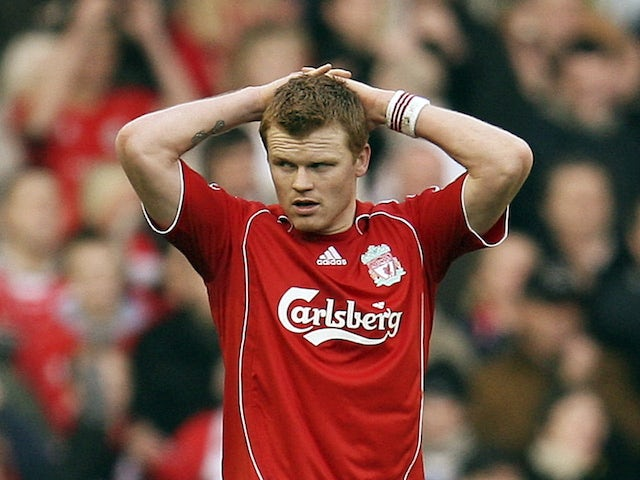 John Arne Riise pictured for Liverpool in 2008