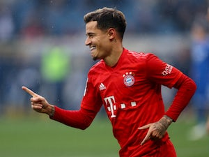 Philippe Coutinho in Bundesliga action for Bayern Munich on February 29, 2020