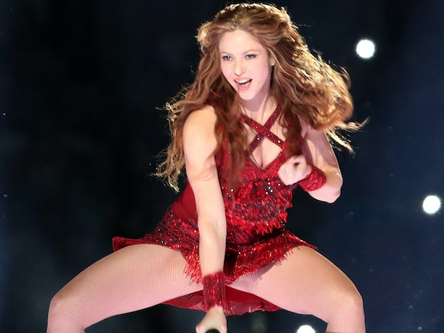Shakira pictured at the Super Bowl on February 3, 2020