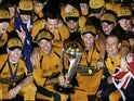 Australia celebrate winning the Cricket World Cup in 2007