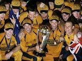 Australia celebrate winning the Cricket World Cup in 2007