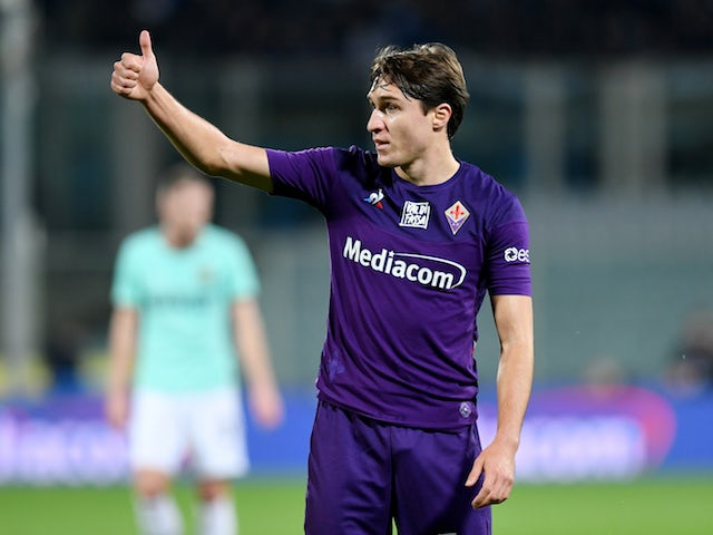 Fiorentina winger Federico Chiesa pictured in December 2019