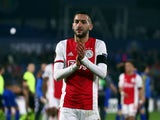 Hakim Ziyech pictured after Ajax's Europa League defeat to Getafe in February 2020