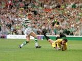 Harald Brattbakk scores for Celtic in 1998