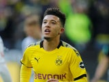 Borussia Dortmund winger Jadon Sancho pictured in February 2020