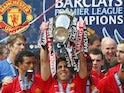 Manchester United lift the Premier League title at the end of the 2008-09 campaign