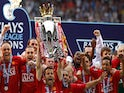 Ryan Giggs and Manchester United lift the 2007-08 Premier League title on May 11, 2008
