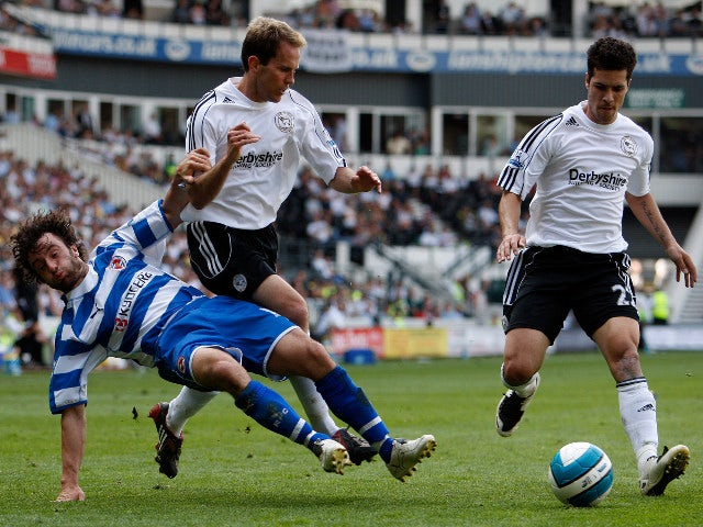Derby County and Reading in the Premier League on May 11, 2008