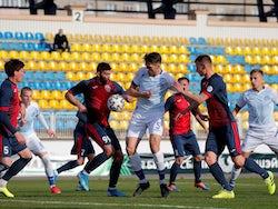 FC Smolevichi v FC Dinamo Minsk action shot from the Belarusian Premier League