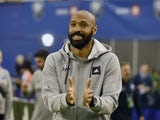 Thierry Henry pictured in charge of Montreal Impact in March 2020