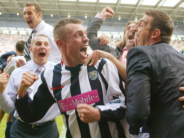 West Brom's Geoff Horsfield celebrates survival in 2005