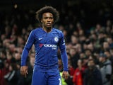 Chelsea winger Willian pictured in March 2020