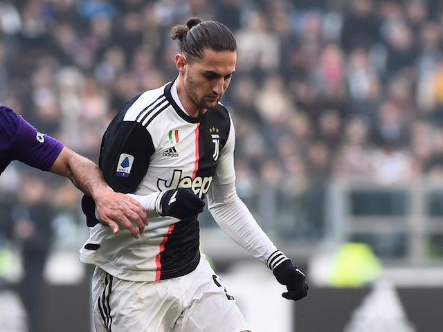 Adrien Rabiot pictured for Juventus in February 2020
