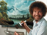 The delightful Bob Ross in The Joy Of Painting With Bob Ross