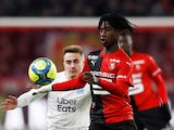Rennes midfielder Eduardo Camavinga pictured in January 2020