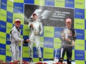 Jenson Button celebrates winning the 2009 Spanish Grand Prix