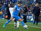 Leandro Cabrera in action for Getafe with Real Madrid's Ferland Mendy in La Liga on January 4, 2020