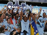 Manchester City celebrate winning the Premier League title in 2012.