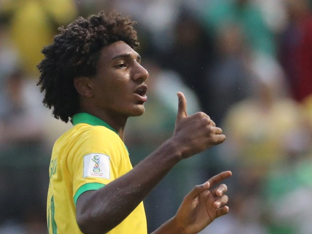 Talles Magno pictured for the Brazil youth team in 2019