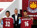 Carlos Tevez and Javier Mascherano sign for West Ham in 2006