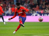 Atletico Madrid midfielder Thomas Partey pictured in October 2019