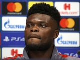 Atletico Madrid midfielder Thomas Partey pictured in March 2020