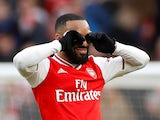 Arsenal striker Alexandre Lacazette pictured in March 2020