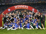 Chelsea celebrate winning the Europa League in 2013