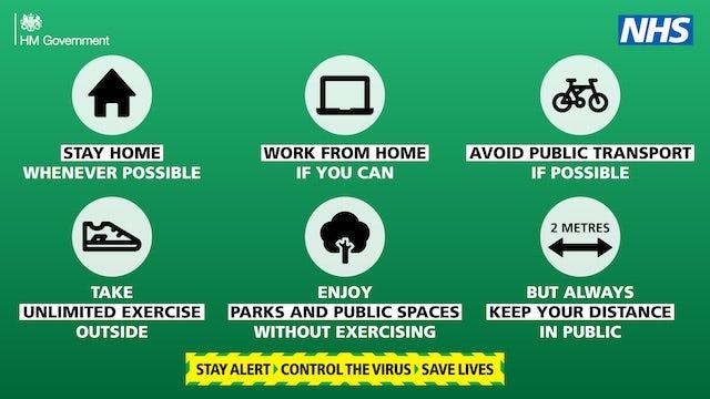 Latest coronavirus PSA banner