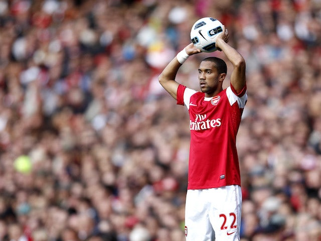 Gael Clichy pictured for Arsenal in 2010