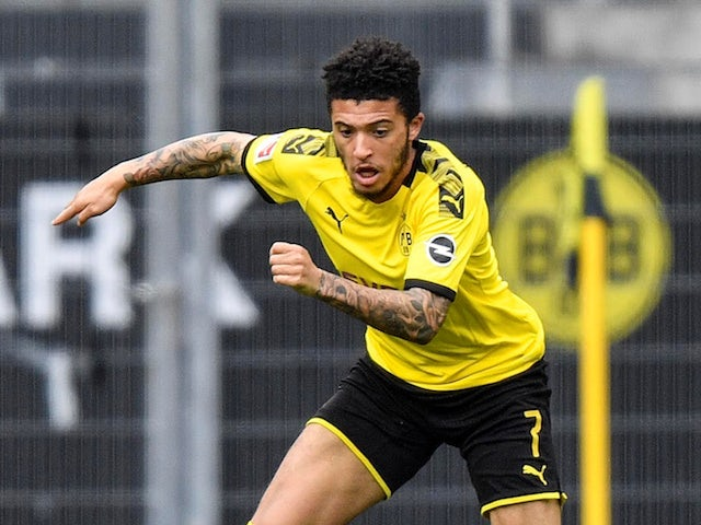 Borussia Dortmund winger Jadon Sancho pictured on May 16, 2020