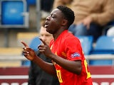 Jeremy Doku pictured for Belgium Under-17s in 2018