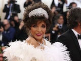 Dame Joan Collins serving shoulder at the Met Gala in May 2019