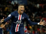 Paris Saint-Germain forward Kylian Mbappe pictured in February 2020