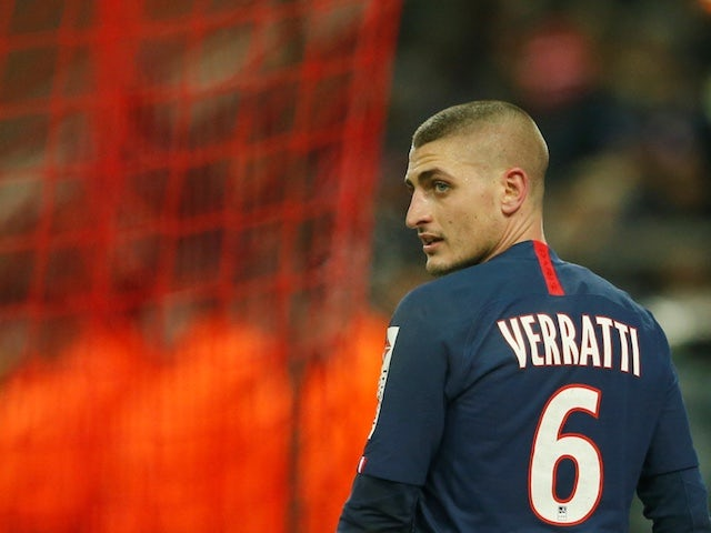 Paris Saint-Germain midfielder Marco Verratti pictured in January 2020